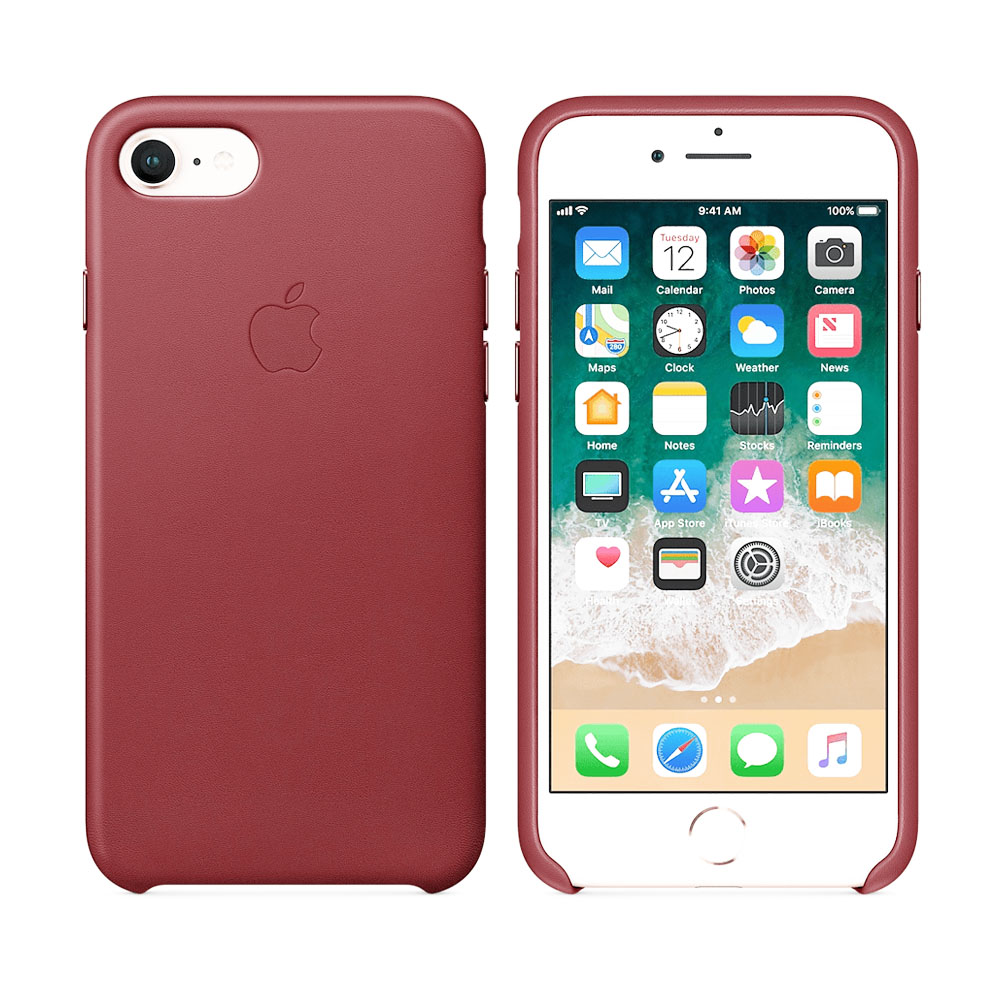 Чехол IPhone 8/7 Leather Case MQHA2ZM/A Red